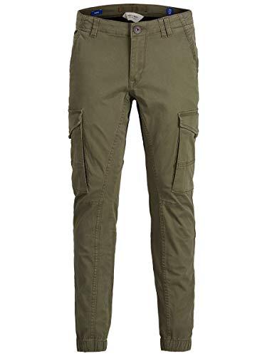 Jack & Jones Junior jongens spijkerbroek JJIPAUL JJFLAKE AKM 542 OLIVE N NOOS JR