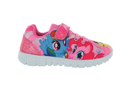 My Little Pony Shoes For Girls (Girls MLP My Little Pony Pink Hook and Loop Trainers UK Size)