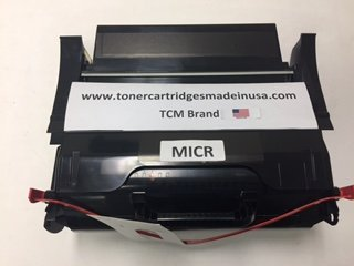 Lexmark T650 MICR OEM Alternative Micr Toner Cartridge. 25k Yield. T650H21E , T650h21a Micr. Made in USA. TCM Brand. by Toner Cartridges Made in USA