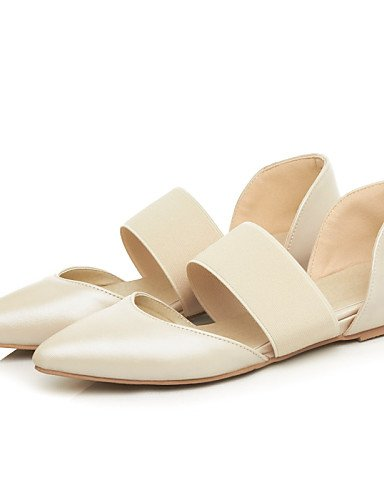 PDX/ Damenschuhe - Ballerinas - Outddor / Kleid / Lässig - Kunstleder - Flacher Absatz - Spitzschuh - Schwarz / Beige beige-us5.5 / eu36 / uk3.5 / cn35