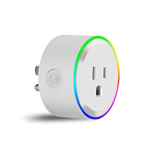 Venoro WiFi Smart Plug, Mini Wireless Remote Control Outlet Timing Switch LED Night Light Intelligent Socket Compatible with Google Home/Amazon Alexa/IFTTT, No Hub Required (Scene Modes) -  H-111475