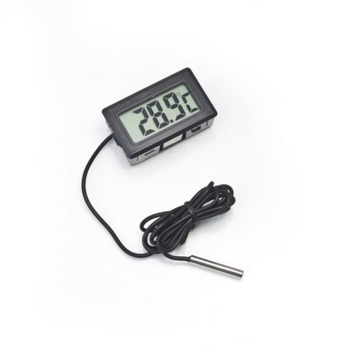 Price comparison product image Alicenter(TM) -50~110°C BlackDigital LCD Thermometer for Refrigerator Freezer Temperature