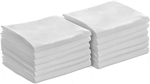 Utopia Bedding 12 Pillowcases - Queen White - Brushed Microfiber - Maximum Softness - Elegant Double-Stitched Tailoring - Reduces Allergies and Respiratory Irritation - Set of Dozen Pillowcases - by