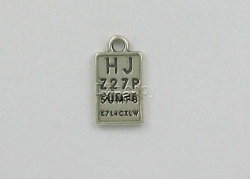 Sterling Silver Eye Chart Charm - Jewelry Accessories Key Chain Bracelet Necklace Pendants