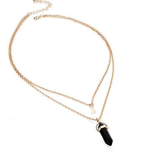Mikash Gemstones Natural Crystal Quartz Healing Point Chakra Stone Pendant Necklace TR | Model NCKLCS - 40851 |
