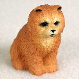Chow Figurine - Chow Chow Miniature Dog Figurine - Red