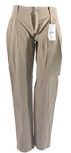 Mac Holly Pleats Stretch Damenhose Stoffhose Hose Sommerhose W36 L26 hellbraun