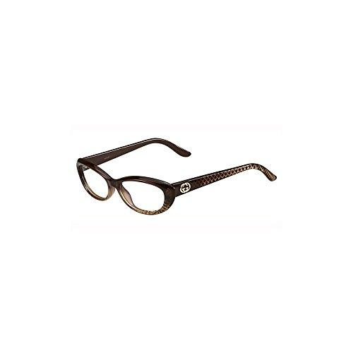 Price comparison product image Gucci GG3566 Eyeglasses-0W9B Brown Diamond-52mm