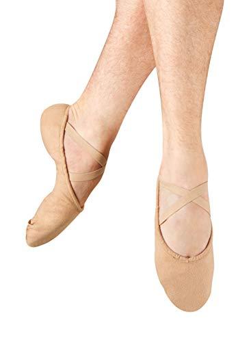 (Bloch Dance Men's Pump Split Sole Canvas Ballet Slipper/Shoe, Flesh, 11 W US)