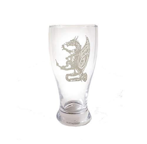 Celtic Dragon Pint Glass - Free Personalized Engraving, Dragon Beer Glass