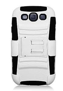 NEOU Caucho Plastico + Funda protectora + correa presilla soporte cascara para Samsung Galaxy S3 i9300