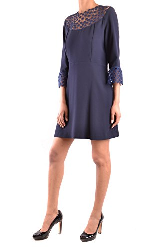 Vestido Azul Poliéster Ezbc056074 Pinko Mujer IpFPPS