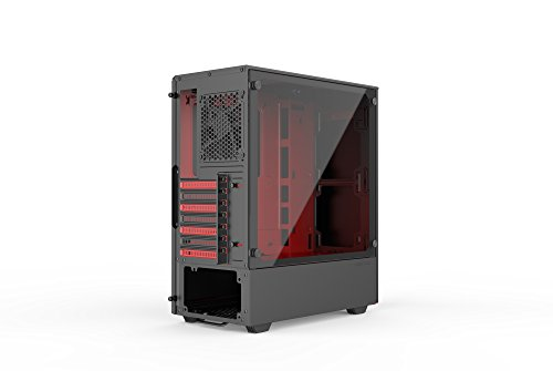 Phanteks PH-EC300PTG_BR Eclipse P300 Tempered Glass Steel ATX Mid Tower Case Black/Red by Phanteks (Image #5)