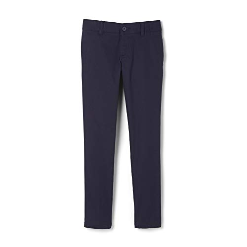 French Toast Big Girls' Stretch Twill Skinny Leg Pant, Navy, 7 (Blue Uniform Girls Navy Pants)