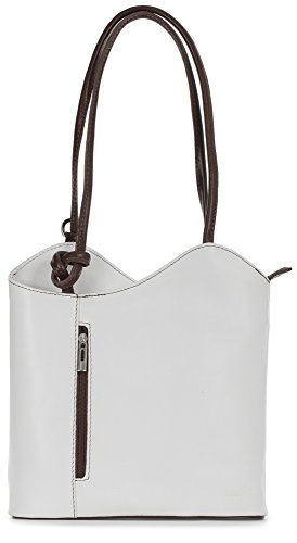 Brown Leather Italian Womens soft Duffle White Bag Rucksack Structured Leather Shoulder Backpack Soft Libby amp; Liatalia AZxwEOO