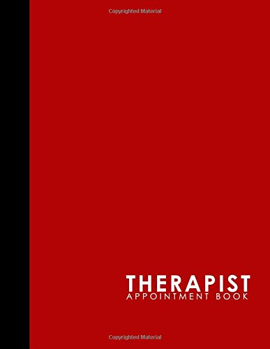 Read Online Therapist Appointment Book: 7 Columns Appointment Diary, Appointment Scheduler Book, Daily Appointments, Red Cover (Volume 45) PDF