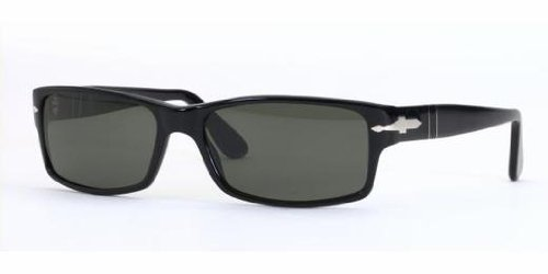 Persol PO2747S 95/48 Sunglasses, Black Acetate Frame, Green Polarized 57mm - Polarized Lenses Persol