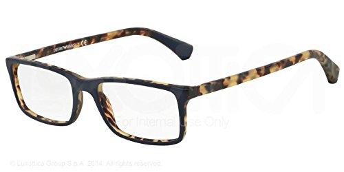 Emporio Armani Montures de lunettes 3043 - 5272: Blue / Matte Tortoise - 52mm