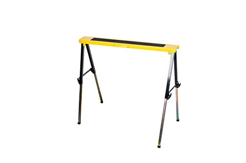 Single Pack Steel Multi Purpose Folding Legs and 12 Position Height Adjustable Sawhorse Brackets Capacity 250LBS by CASTOOL (Image #9)