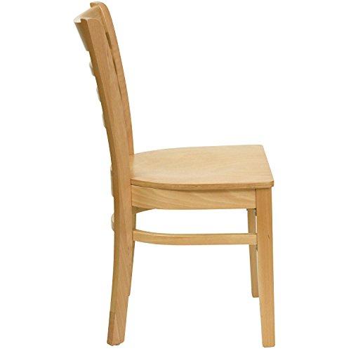Flash Furniture HERCULES Series Ladder Back Natural Wood Restaurant Chair