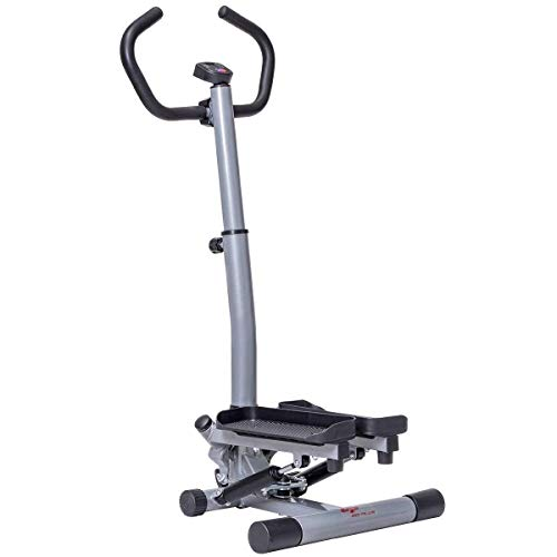 Selva Twister Stepper w/Handle Bar – 12 Level Step Machine | LCD Monitor Time Calories Count Height Adjustable Sturdy Heavy Duty Support 220Lbs | for Fitness Workout Exercise Thigh Buttock Bone Joint by Selva (Image #2)