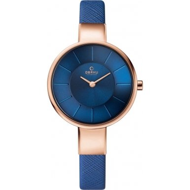 Obaku Analog Quartz Blue Dial Women's Wrist Watch 19V149LXVLRA