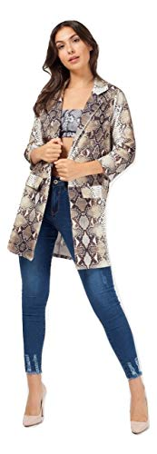 Print Giacca Momo 4 Manica Khaki Snake amp;ayat 3 Blazer A Donna Fashions 4vvEw