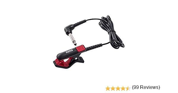 Korg CM-300-BKRD micrófono de contacto con diseño mejorado, Rojo/Negro: Amazon.es: Instrumentos musicales