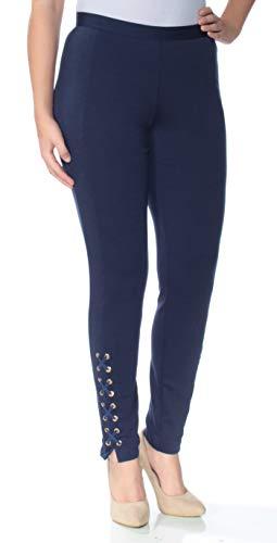 Michael Michael Kors Womens Lace-Up Skinny Skinny Pants Navy 14