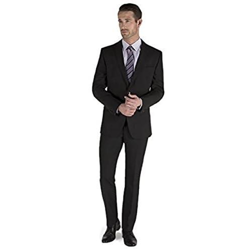37de4a3231c5f durable modeling Men s 2 Piece Single Breasted 2 Button Suit - Black ...