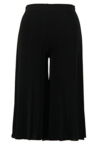 Jostar Women's Acetate Gaucho Pants Small Black