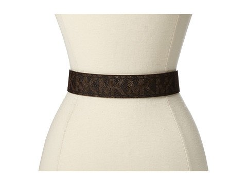 Michael Kors Chocolate Hamilton Lock Monogram Belt Chocolate M