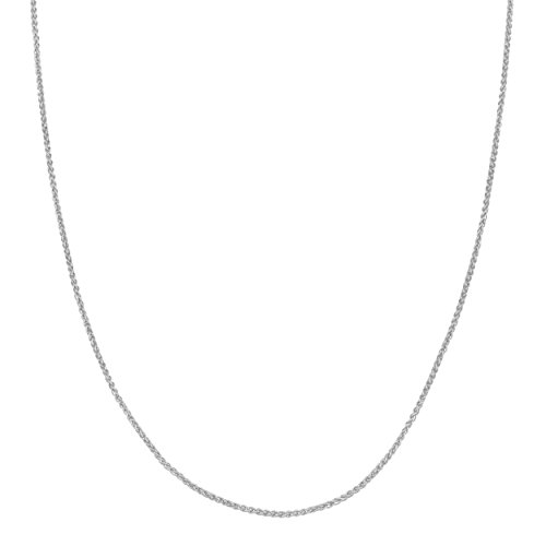 Sterling Silver Neck Chain (Sterling Silver 1.1mm Round Wheat Chain (20 inch))