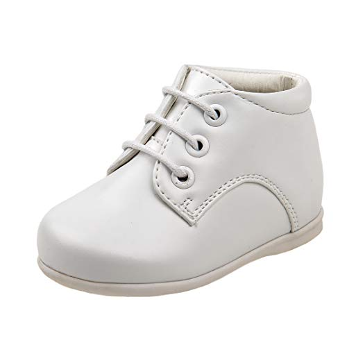 Josmo Baby Boy's First Steps Walking Dress Shoe (Infant, Toddler) (5 M US Toddler, White Hi Top)'