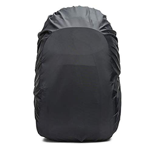 Frelaxy Waterproof Backpack Rain Cover (15-90L), Upgraded Vertical Buckle Strap & Silver Coated, Rainproof Storage Pouch Included, Perfect for Hiking (Black, M (for 25L-35L Backpack)) by Frelaxy (Image #1)