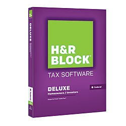 H&R Block Tax Software Deluxe 2015 Federal Only