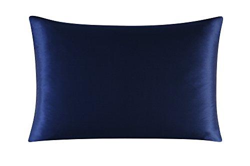 Townssilk Both Side 100% 16mm Silk Pillowcase Queen Size Pillow Case Cover with Hidden Zipper Mi ...
