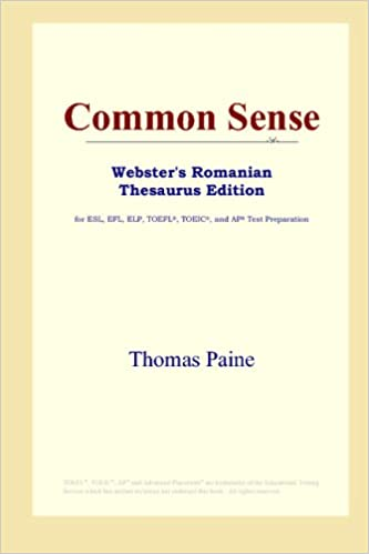 Amazon.com: Common Sense (Websters Romanian Thesaurus Edition): Thomas Paine: Books