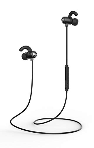 Bluetooth Headphones, Ipx7 Waterproof Wireless Earbuds, Cvc6.0 Noise Canceling Headphones with Microphone, Suitable for Outdoor, Running, Gym -Q9/Black