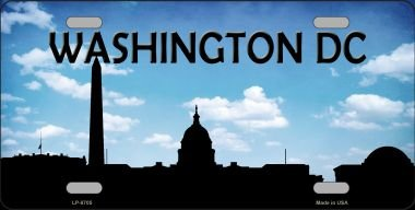 Smart Blonde Washington DC Silhouette Novelty Metal License Plate LP-8705 District Of Columbia License Plate