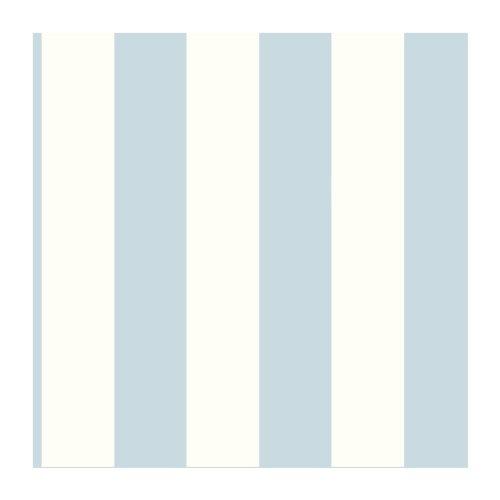 York Wallcoverings SA9176 Ashford Stripes 3-Inch Stripe Wallpaper, Blue/White