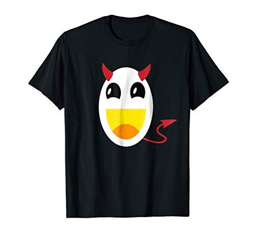 Deviled Egg Spooky Funny Halloween Devil Costume T Shirt -