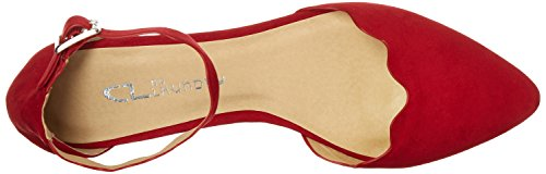 Chinese Laundry Flat Studio Super Chili Pointed Toe Red Women's by CL Sued ZAnxS6R