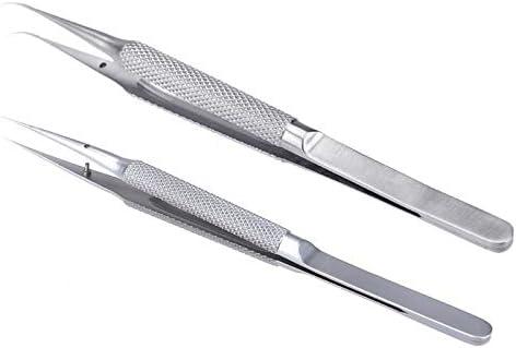 Pinzas de soldadura de acero inoxidable de precisi/ón con pinzas industriales de punta recta fina