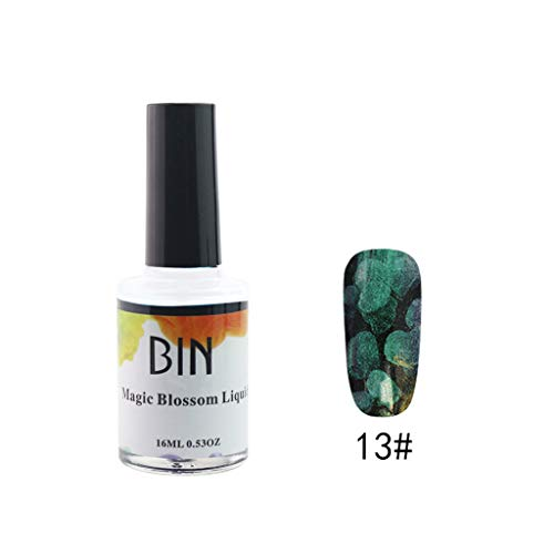 Flurries  Blossom Nail Polish - Watercolor Marble Nail Ink - Magic Blossom Gel - Beautiful Flower Nail - Art Varnish Manicure Design (13#)