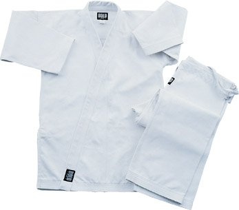 Heavyweight 12oz Brushed Cotton Karate Uniform size 4 white ()