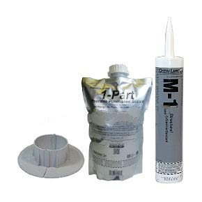 ChemLink F1350 6'' Diameter E-Curb Round Kit, Gray
