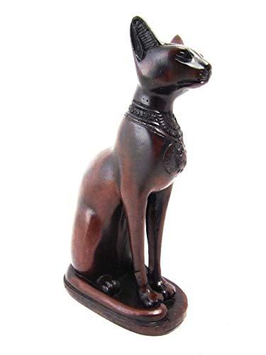 (Blue Orchid Goddess Bastet Cat Statue Egyptian Cat Figurine)