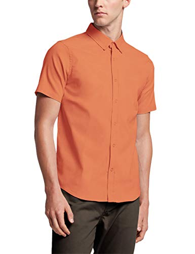 Ma Croix Mens Premium Slim Fit Dress Shirt Short & Long Sleeve Variety Colors S-2XL