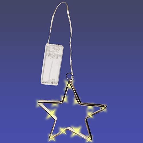 17 cm Stern Batterie betrieben Weihna.. alles-meine.de GmbH LICHT Dekostern Name 15 St/ück LED mit Haken zum Aufh/ängen Lichterstern mit Beleuchtung inkl Weihnachten
